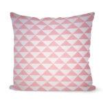 dekorativní geometrický povlak na polštář Pink triangle 40x40 cm 7
