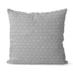 dekorativní geometrický povlak na polštář šedivý Fine squares 40x40 cm 7