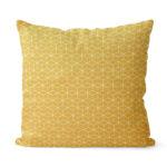 dekorativní geometrický povlak na polštář žlutý Fine squares 40x40 cm 7