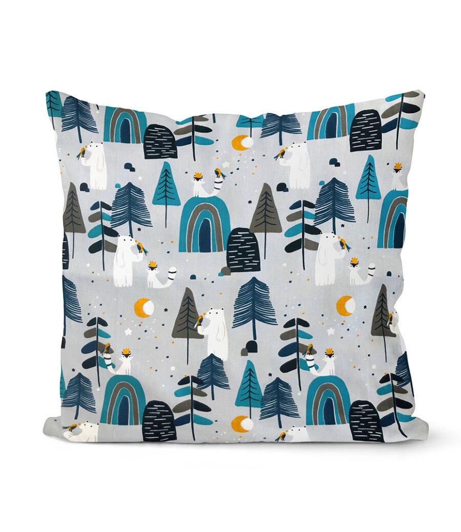 dekorativní dětský povlak na polštář In the forest 40x40 cm 1