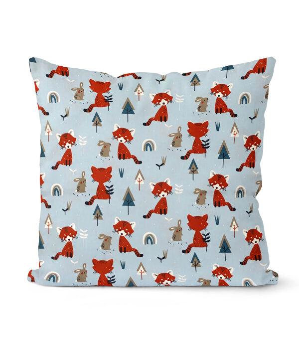 dekorativní dětský povlak na polštář Fox and bunny 40x40 cm 15