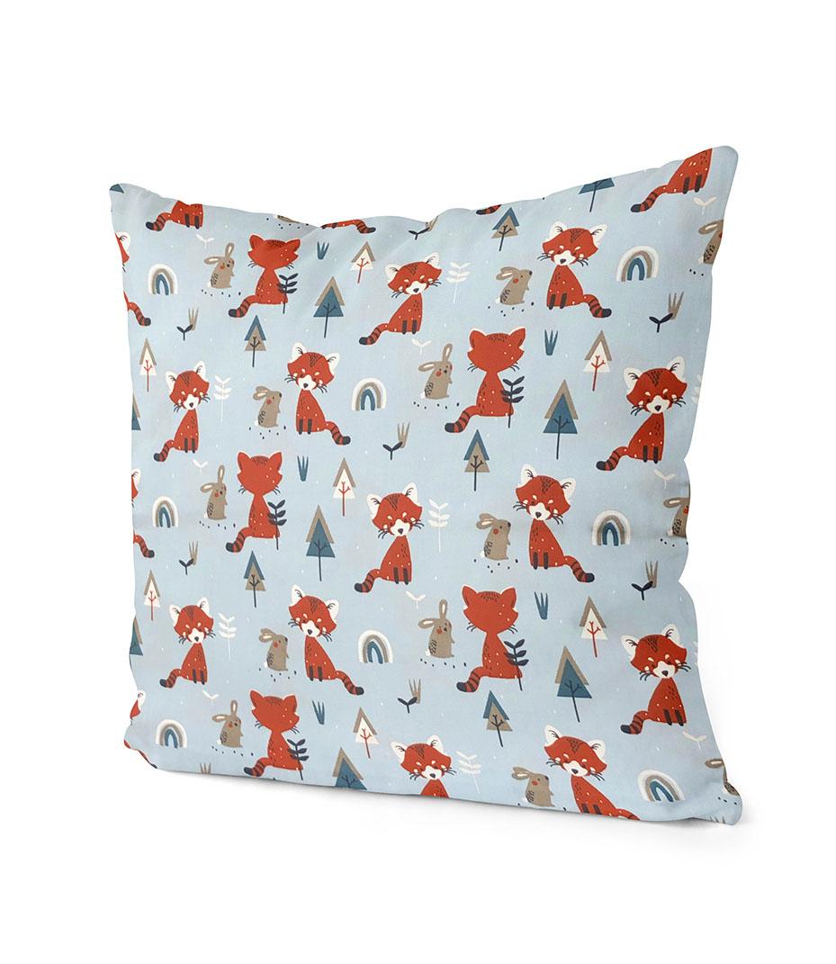 dekorativní dětský povlak na polštář Fox and bunny  40x40 cm 2