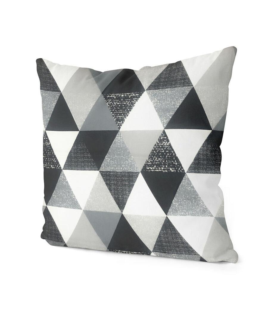 dekorativní geometrický povlak na polštář šedivý Triangular 40x40 cm 2