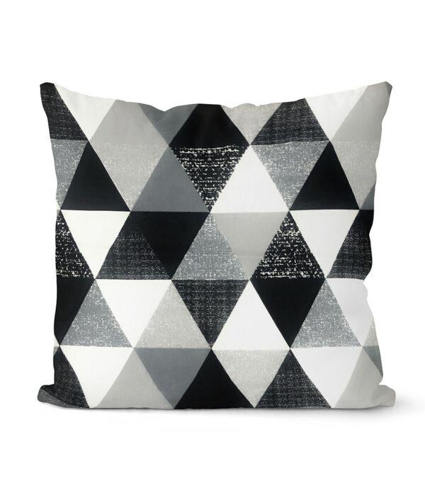 dekorativní geometrický povlak na polštář šedivý Triangular 40x40 cm 10